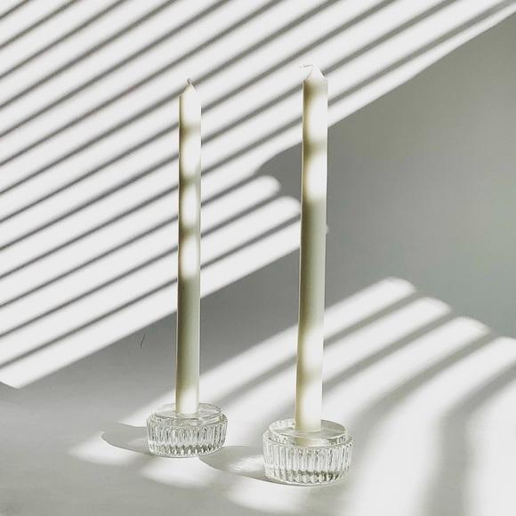 Vintage Crystal Candle Stick Holder Set